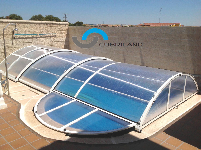 Cerramientos para piscinas cubriland for Material para piscinas
