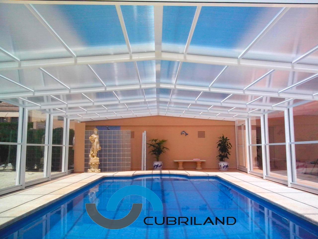 Cerramientos para piscinas cubriland for Modelos de gibson para techos