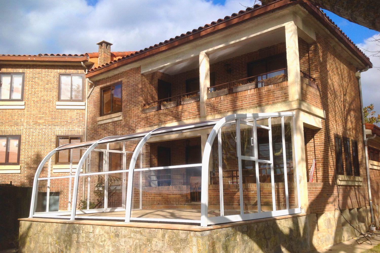 Cubiertas de piscinas altas cubiertas para piscinas cubriland - Techos de aluminio para terrazas ...