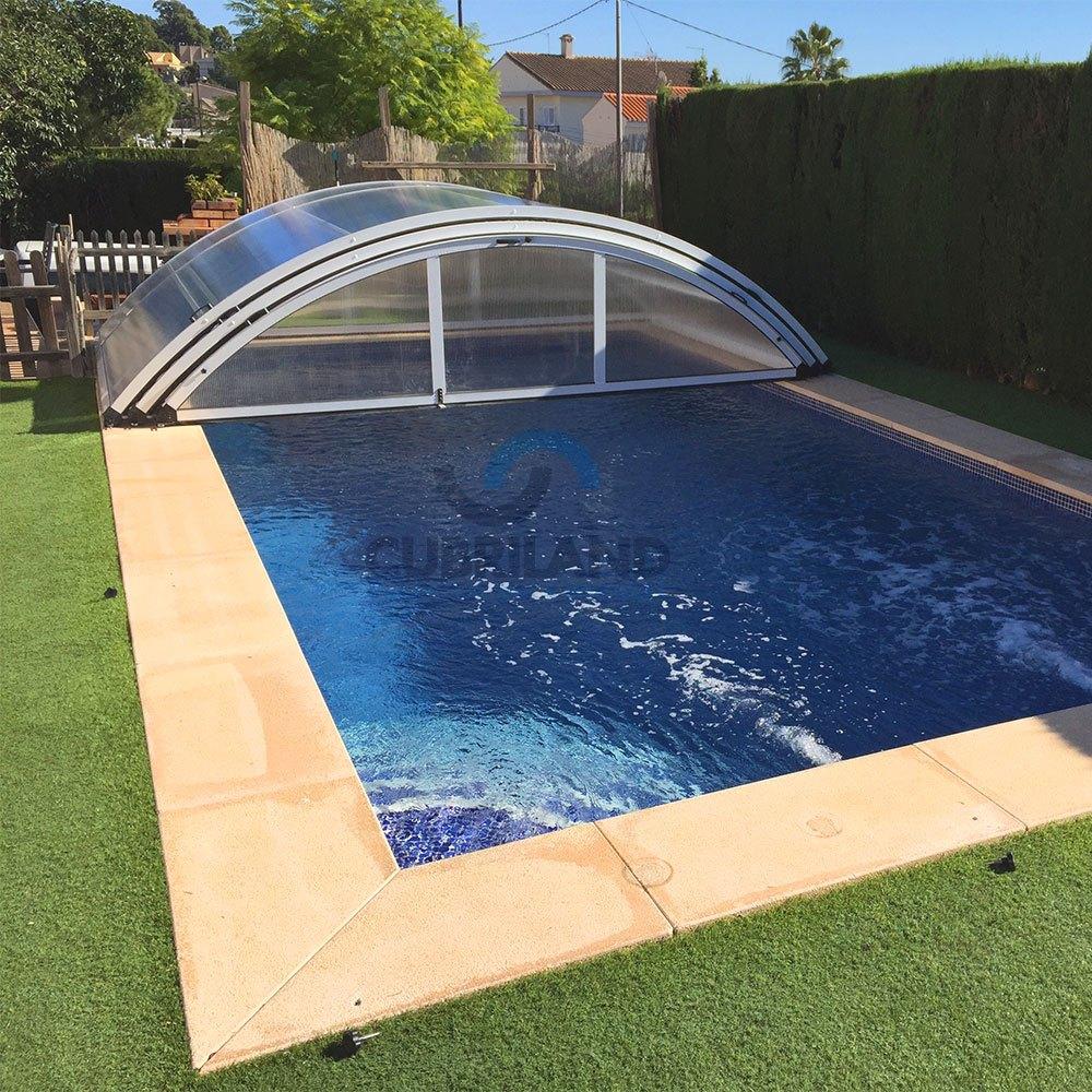 cubiertas de piscina sobre ruedas