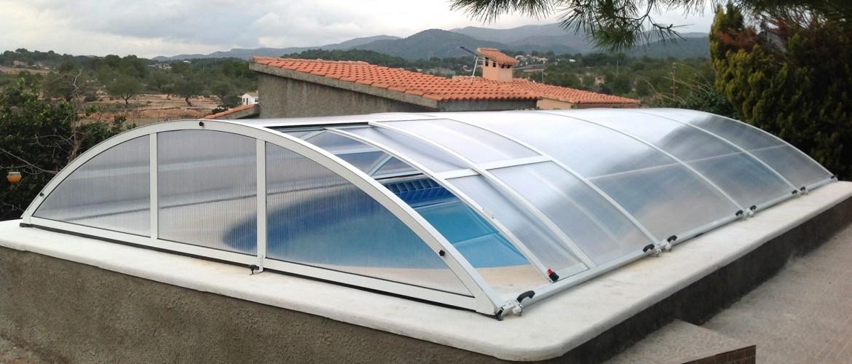 Cubierta de piscina elevable cubriland