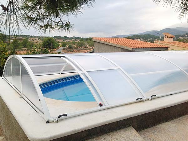 cubierta baja de piscina trampilla lateral