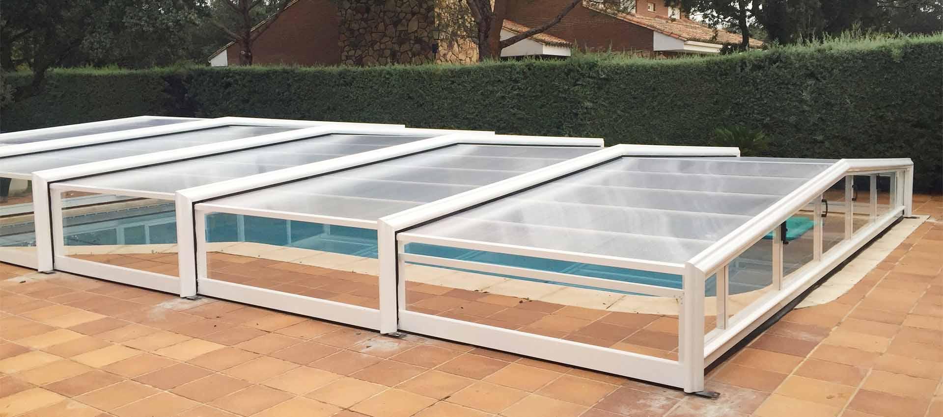 Cubierta baja sin railer de varias alturas cubriland - Cubierta para piscinas ...