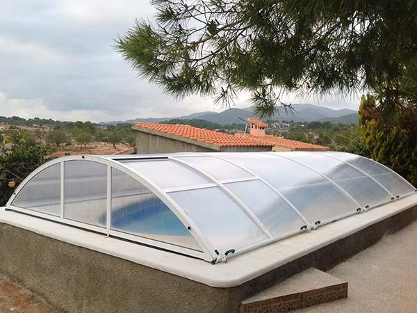 piscinas cubiertas bajas abatibles