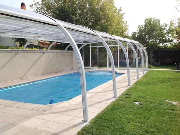 Cubierta de piscina fija apertura lateral - Cubierta de piscina ...
