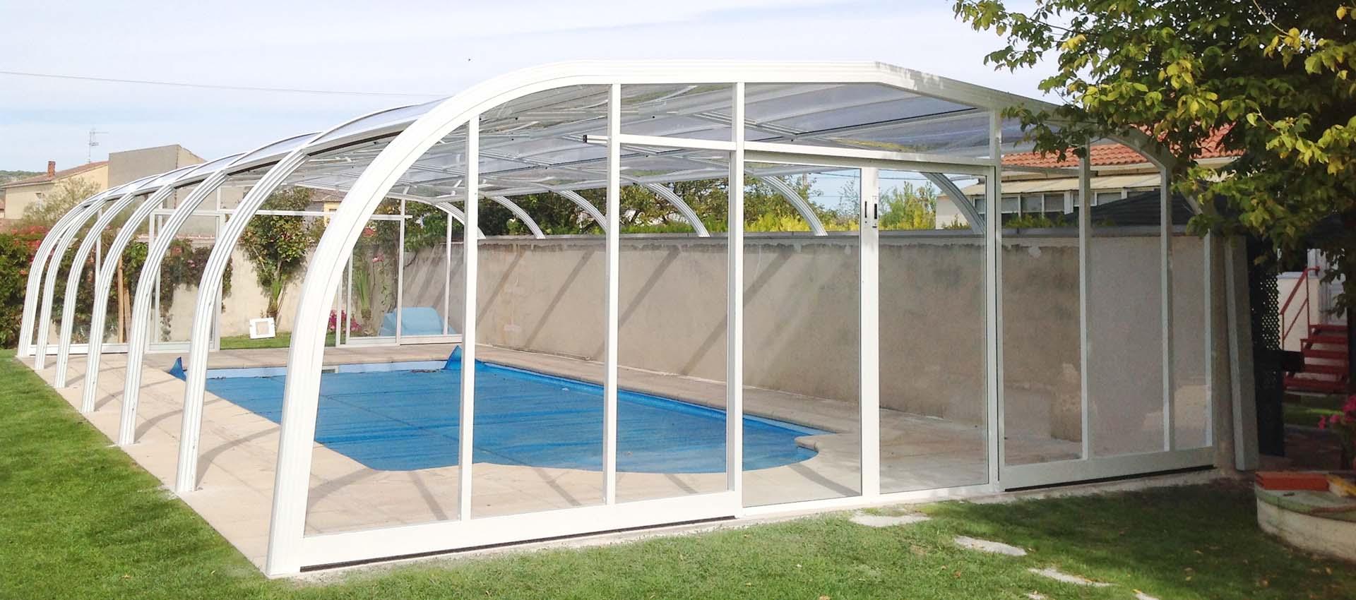 Cubiertas de piscinas altas adosadas 3 modelos a elegir - Cubierta para piscinas ...