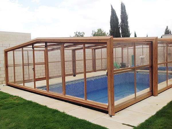 cubiertas de piscina de madera