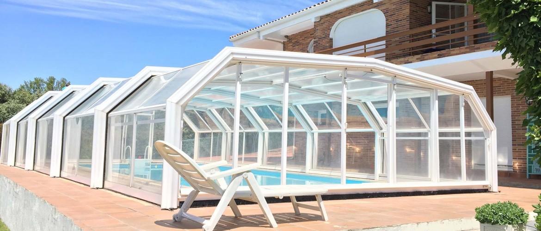 cubiertas de piscinas altas telescopicas cubriland