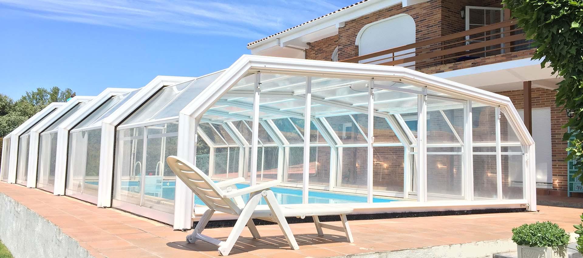 Cubierta alta telesc pica para piscinas cubriland - Piscinas altas ...
