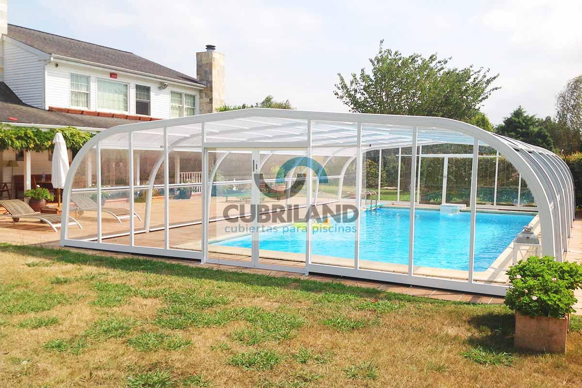 Cubiertas para piscinas en asturias cubriland Cubierta piscina precio