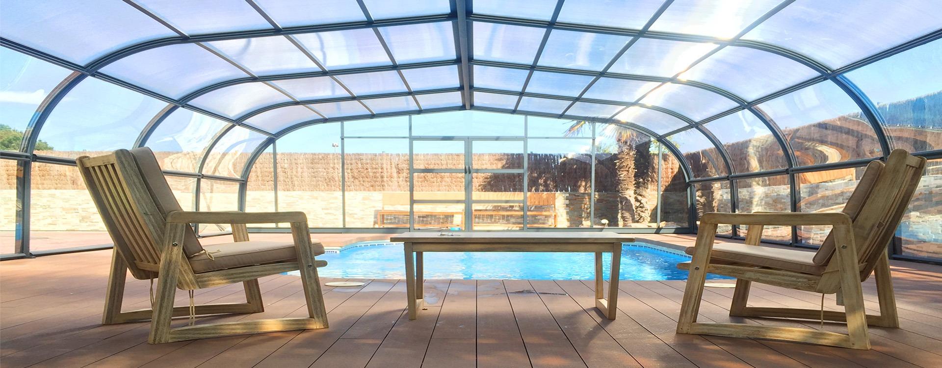 Cubierta piscina fija gris cubriland