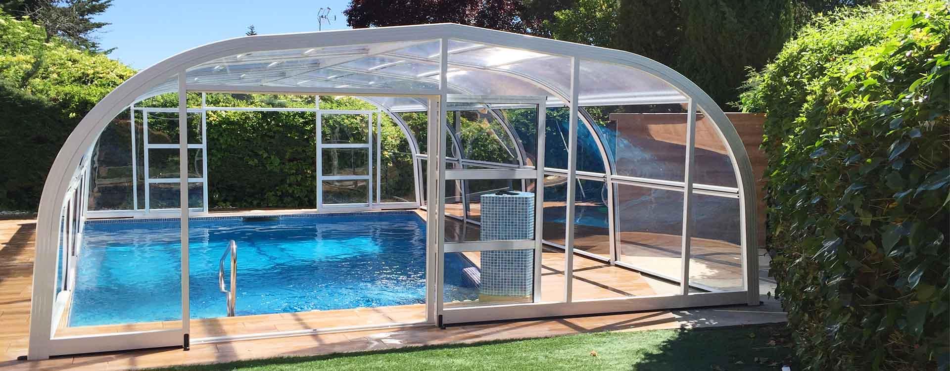 Cubiertas de piscinas y cerramientos modelos 2019 calidad for Cubierta piscina desmontable