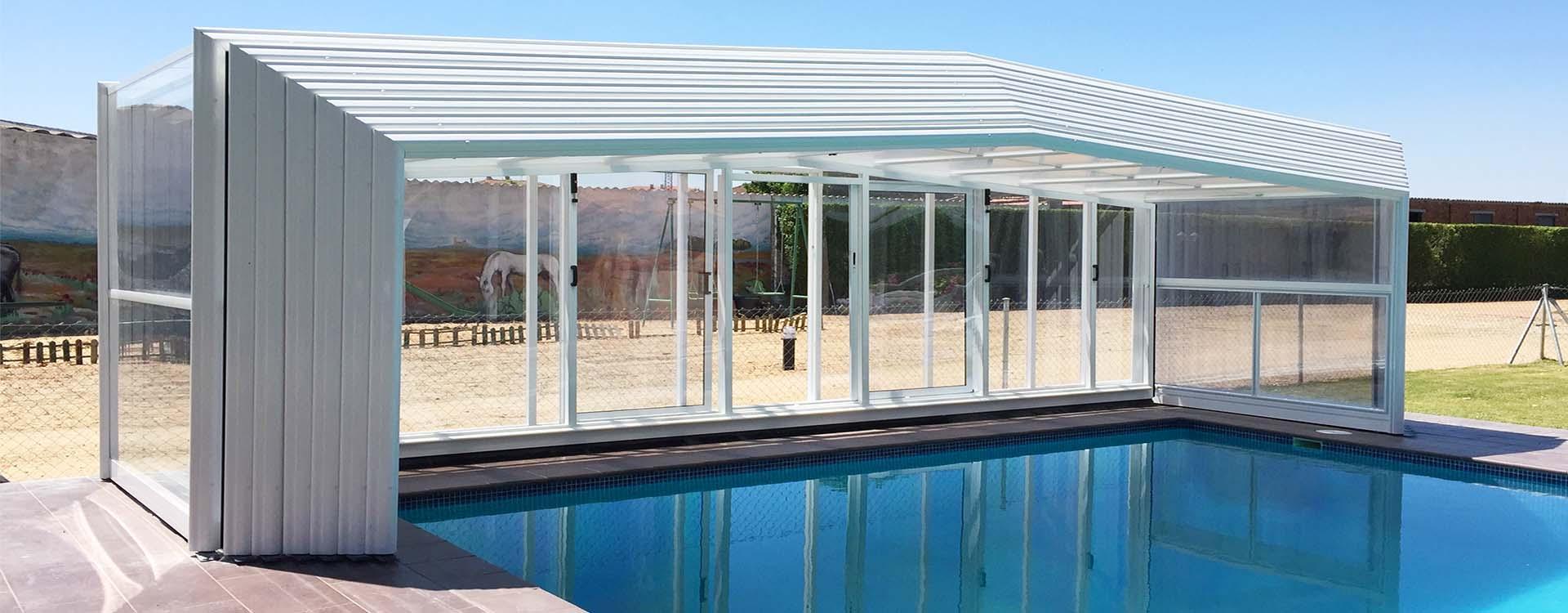 Hacer piscina precio gallery of piscina ecologica with for Cubiertas para piscinas baratas