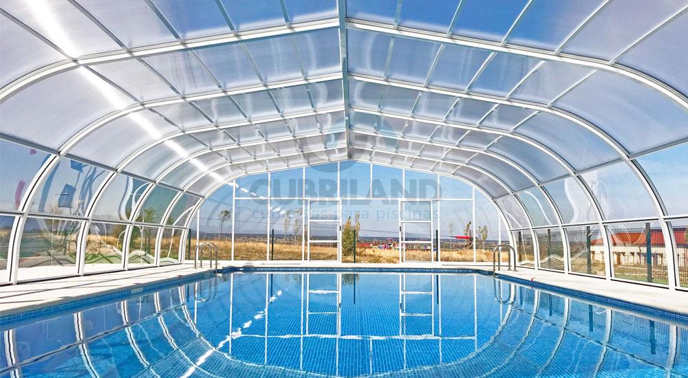 Cubiertas para piscinas en segovia con cubriland acertar s - Piscina climatizada segovia ...