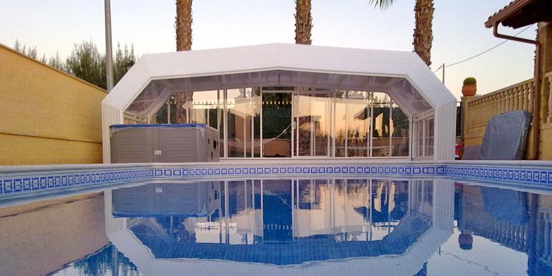 cubierta imola tipo desmontable para piscinas