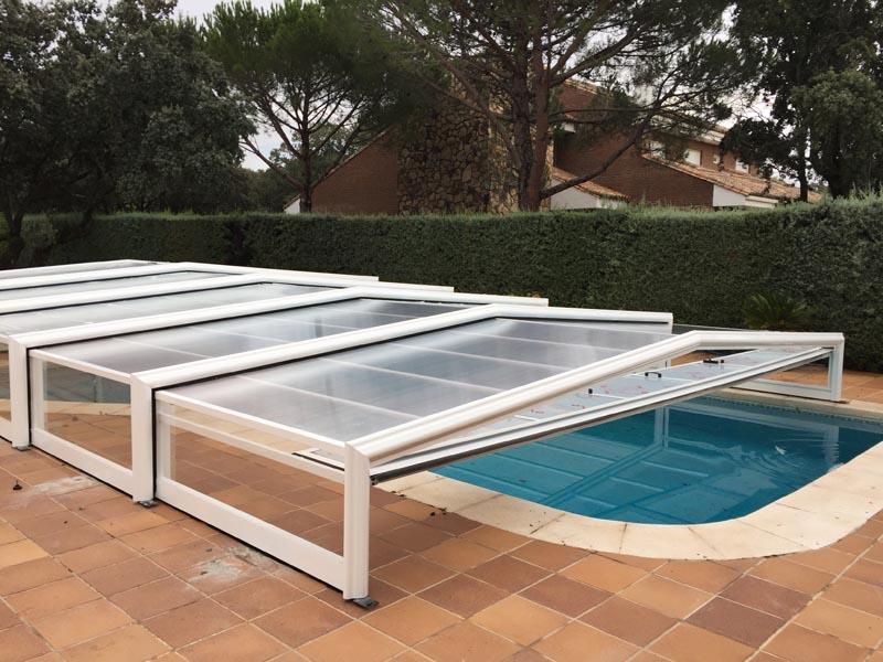 puedes desmontar la cubierta baja para piscina