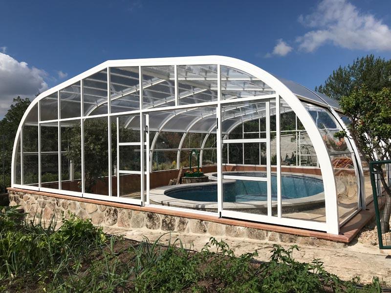cubiertas de piscina para casas rurales