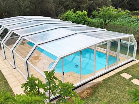 cubiertas para piscinas altas telescopicas cubriland modelo imola