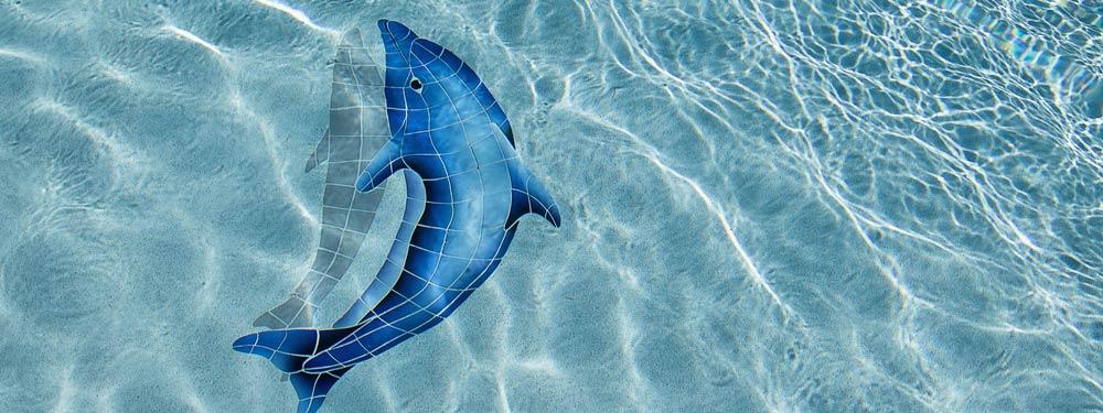 delfin pegatina pisicina