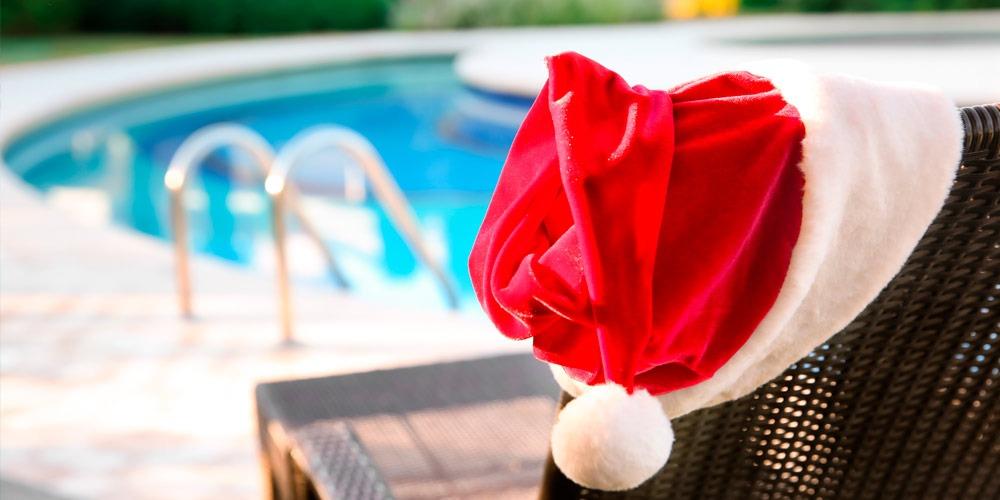 consejos decoración navidad para piscina