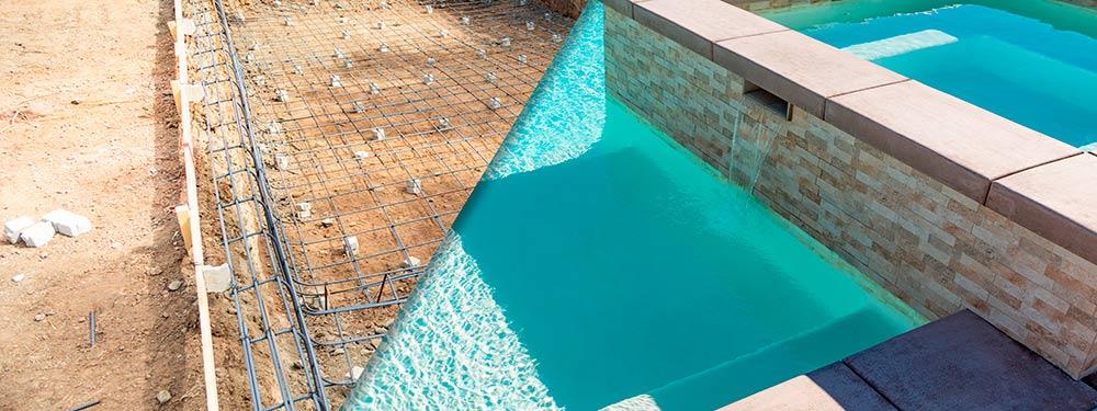 obra en piscina